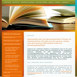 Therapie mit Chlordioxid, CDS, CDL, MMS, DMSO - Naturheilpraxis-Heilpraktiker Praxis
