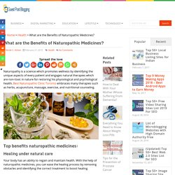 What are the Benefits of Naturopathic Medicines?