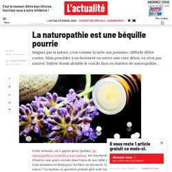 La naturopathie béquille pourrie?
