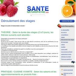Santé Naturopathie - Déroulement des stages