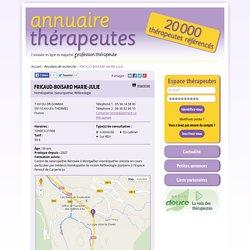 FRICAUD-BOISARD MARIE-JULIE, Homéopathie - Naturopathie - Réflexologie, AX-LES-THERMES (Ariège)