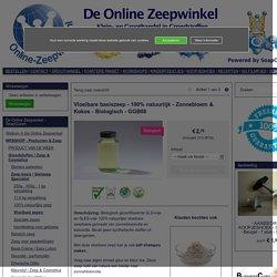 Vloeibare basiszeep - 100% natuurlijk - Zonnebloem & Kokos - Biologisch - GGB08 (1 liter = € 6,95)
