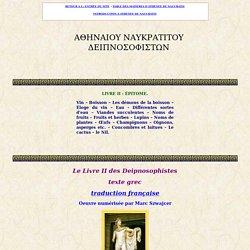 Athénée de Naucratis : Deipnosophistes : livre II : texte gre