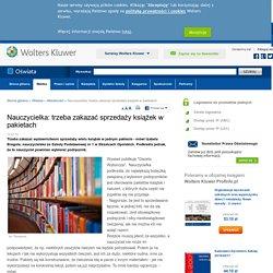 Nauczycielka: trzeba zakazać sprzedaży książek w pakietach - Aktualności - Czytaj - oswiata.abc.com.pl