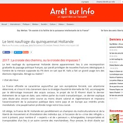 Le lent naufrage du quinquennat Hollande