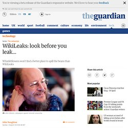 John Naughton on WikiLeaks | Technology | The Observer