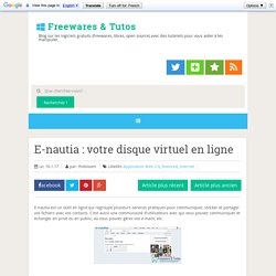 E-nautia : votre disque virtuel en ligne