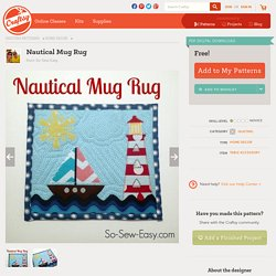 Nautical Mug Rug by Deby Coles