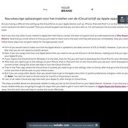 Nauwkeurige oplossingen voor het instellen van de iCloud-schijf op Apple-apparaten