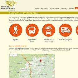 Accès au Grand Site de Navacelles véhicule motorisé