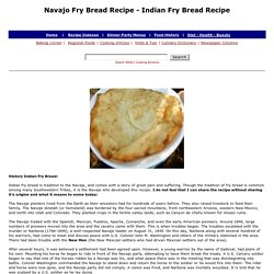 Navajo Fry Bread Recipe, Indian Fry Bread, Indian Taco Recipe, Whats Cooking America