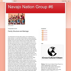 Navajo Nation Group #6: Family Structure and Marriage
