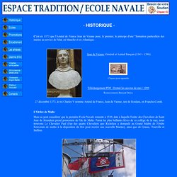 Ecole Navale / Espace Tradition / Historique