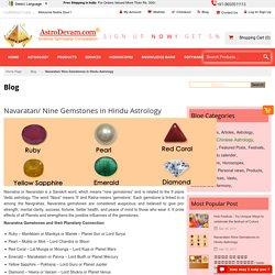Navaratan/ Nine Gemstones In Hindu Astrology
