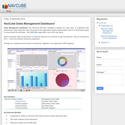 NavCube Sales Management Dashboard