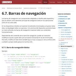 6.7. Barras de navegación (Bootstrap 3, el manual oficial)