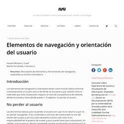 Elementos de navegación y orientación del usuario