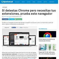 El navegador Vivaldi soporta extensiones de Chrome