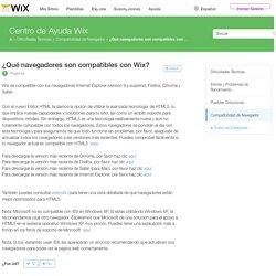 ¿Qué navegadores son compatibles con Wix?