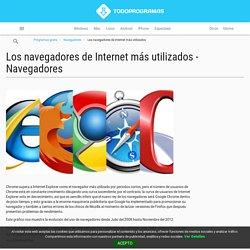 Los navegadores de Internet más utilizados - Navegadores