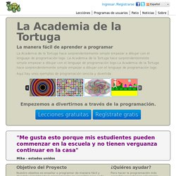 La Academia de la Tortuga - aprende logo desde tu navegadormaterial de programación gratuito para niños