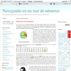 Navegando en un mar de números: Historia de los logaritmos