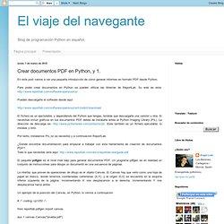 Crear documentos PDF en Python, y 1.