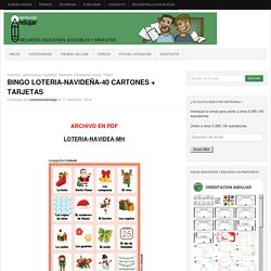 BINGO LOTERIA-NAVIDEÑA-40 CARTONES + TARJETAS -Orientacion Andujar