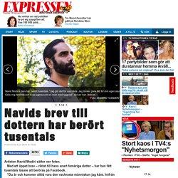 Navids brev till dottern har berört tusentals