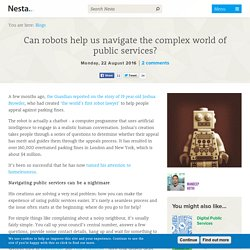 Can robots help us navigate the complex world of public services?
