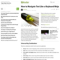 How to highlight text like a keyboard ninja
