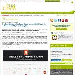 Quel navigateur offre la meilleure compatibilité avec les web apps HTML5 ?