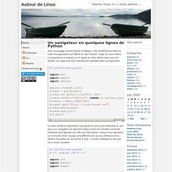 Un navigateur en quelques lignes de Python