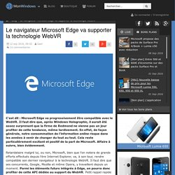 Le navigateur Microsoft Edge va supporter la technologie WebVR - Mon Windows (Phone)