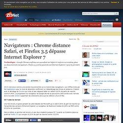 Navigateurs : Chrome distance Safari, et Firefox 3.5 dépasse Int
