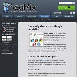 Navigateurs et Google Analytics (filtre)