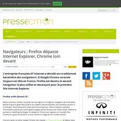 Navigateurs : Firefox dépasse Internet Explorer, Chrome loin devant