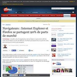 Navigateurs : Internet Explorer et Firefox se partagent 90% de p