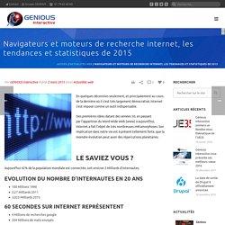 Navigateurs et moteurs de recherche internet, les tendances et statistiques de 2015 - GENIOUS Interactive - Groupe GENIOUS