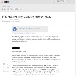 Navigating The College Money Maze