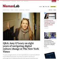 Q&A: Amy O'Leary on eight years of navigating digital culture change at The New York Times
