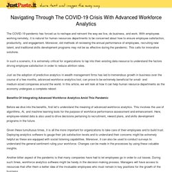 Navigating Through The COVID-19 Crisis With Advanced Workforce Analytics