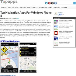 Top Navigation Apps For Windows Phone 8