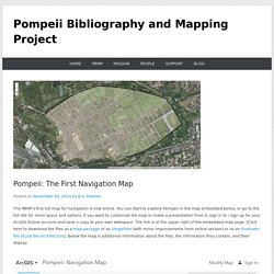 Pompeii: The First Navigation Map – Pompeii Bibliography and Mapping Project