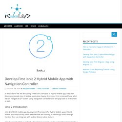 Develop First Ionic 2 Hybrid Mobile App with Navigation Controller - iCodersLab