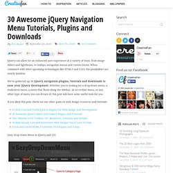30 Awesome jQuery Navigation Menu Tutorials, Plugins and Downloads