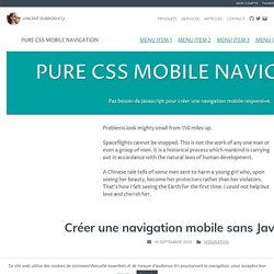 Créer une navigation mobile sans JavaScript