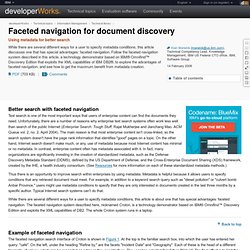 Faceted navigation for document discovery