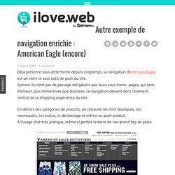 Autre exemple de navigation enrichie : American Eagle (encore)