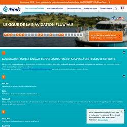 Navigation fluviale sur les canaux : lexique et code